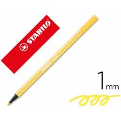 Rotulador Stabilo 68/44 amarillo 1 mm