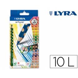 Lapices de colores Lyra Groove 10 colores