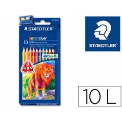 Lapices de colores Staedtler modelo Noris Club triangulares Triplus con 10 lapices gordos