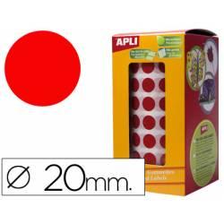 Gomets Apli circulares rojos 20mm