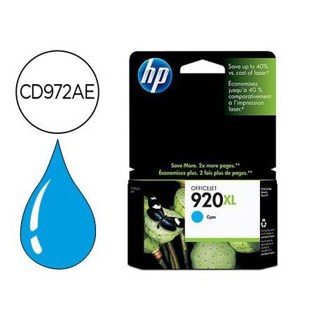 Cartucho HP 920XL Cian CD972AE