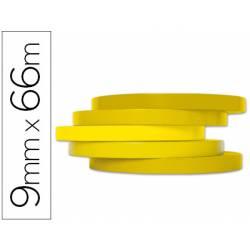 Cinta precintadora adhesiva Q-Connect 66mx9mm amarilla