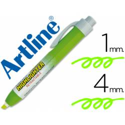 Rotulador Artline clix verde fluorescente 4mm