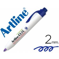 Rotulador Artline Clix azul 2mm