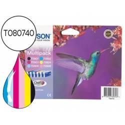 Cartucho Epson T080740 Tricolor