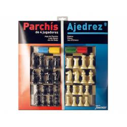 Juego de mesa Parchis + Ajedrez Fournier