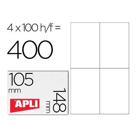Etiquetas Adhesivas Apli 105 x 148 mm