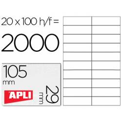 Etiquetas Adhesivas Apli 105 x 29 mm