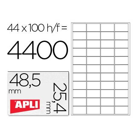 Etiquetas Adhesivas Apli 48,5 x 25,4 mm