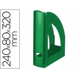 Revistero plastico Liderpapel verde opaco