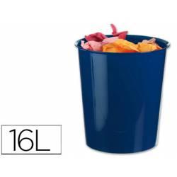 Papelera plástico Q-Connect azul opaco 16 litros