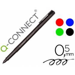Rotulador Q-connect retroproyeccion punta fibra 0.5 mm permanente. Bolsa 4 rotuladores