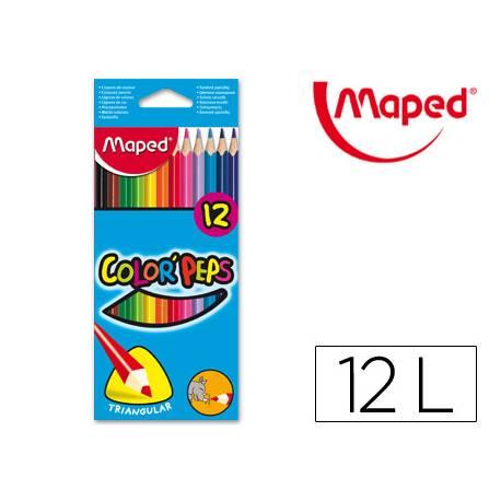 Lapices de colores triangulares Maped caja de 12 unidades