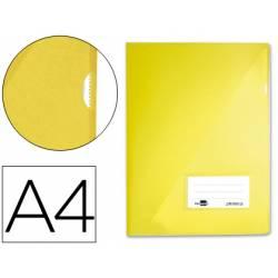Funda dossier uñero con solapa Liderpapel Din A4 amarillo