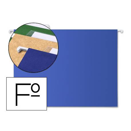 Carpeta colgante marca Liderpapel Folio Kraft azul