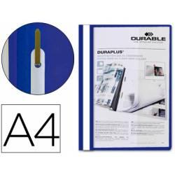 Carpeta dossier fastener duraplus Durable Din A4 azul