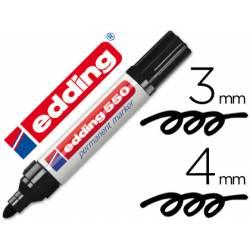 Rotulador Permanente Edding 550 Negro Punta redonda