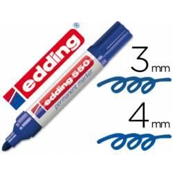 Rotulador Permanente Edding 550 Azul Punta redonda