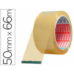 Cinta adhesiva de embalar polipropileno marca Tesa 66 mt x 50 mm transparente