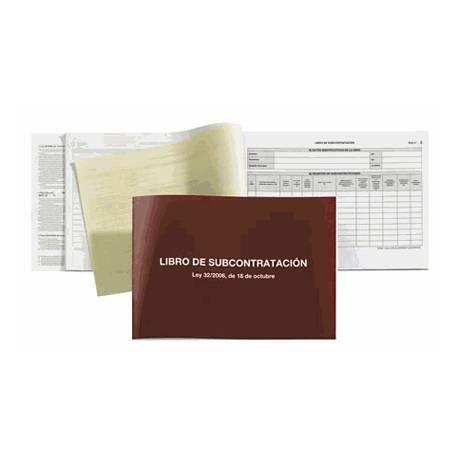 Miquelrius Libro Subcontratacion castellano, tamaño folio