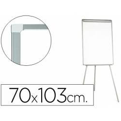 Pizarra Q-Connect trípode magnética marco gris 70x103 cm