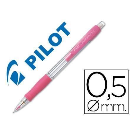 Portaminas Pilot Super Grip rosa