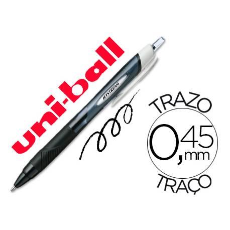 Rotulador-Bolígrafo roller Uni-Ball negro Jet Stream junior 0,45 mm SXN-150