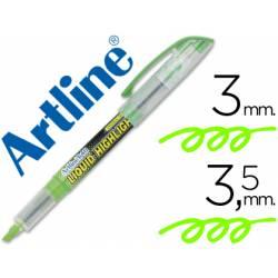 Rotulador Artline EK-640 Fluorescente Verde Punta biselada