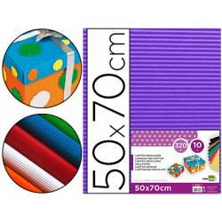 Carton ondulado Liderpapel violeta