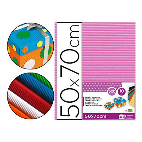 Carton ondulado Liderpapel rosa