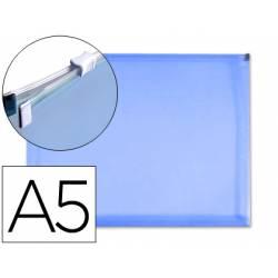 Carpeta sobre cremallera Liderpapel Din A5 azul