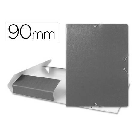 Carpeta de proyectos Liderpapel de carton gomas gris 9 cm