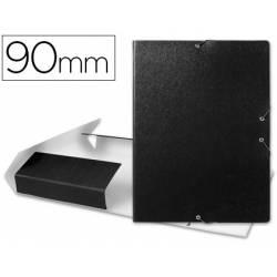 Carpeta de proyectos Liderpapel de carton gomas negro 9 cm