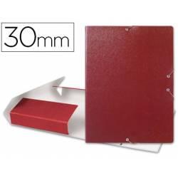 Carpeta de proyectos Liderpapel de carton con gomas. Folio. Rojo. 3 cm