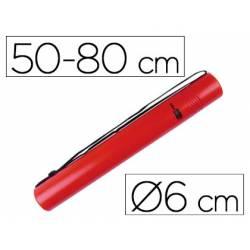 Portaplanos plastico extensible Liderpapel rojo