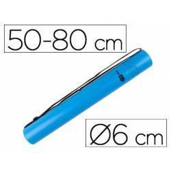 Portaplanos plastico extensible Liderpapel azul