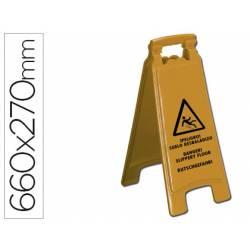 Cartel Q-Connect peligro suelo resbaladizo