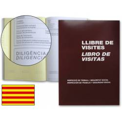 Miquelrius Libro Registro de visitas 3 idiomas , tamaño Folio