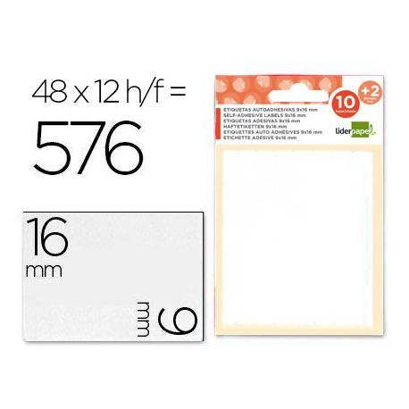 Etiquetas Adhesivas marca Liderpapel Obsequio 9x16 mm