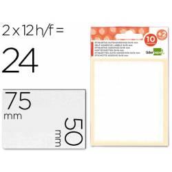 Etiquetas Adhesivas marca Liderpapel Obsequio 50 x 75 mm