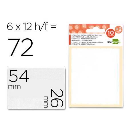 Etiquetas Adhesivas Liderpapel Obsequio 26 x 54 mm