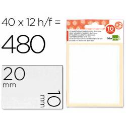 Etiquetas Adhesivas Liderpapel Obsequio 10 x 20 mm