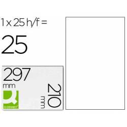 Etiquetas Adhesivas Q-Connect Transparentes A4