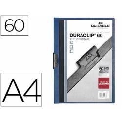Carpeta dossier con pinza central duraclip Durable 60 hojas Din A4 azul oscuro