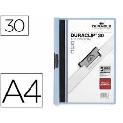 Carpeta dossier con pinza central duraclip Durable 30 hojas Din A4 azul