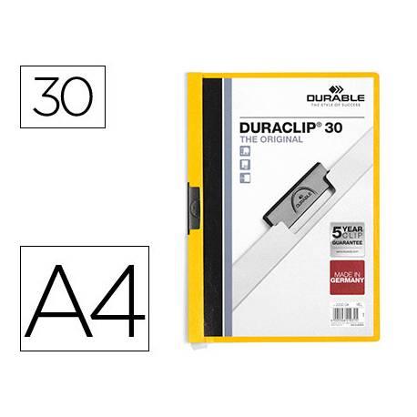Carpeta dossier con pinza central duraclip Durable 30 hojas Din A4 amarillo