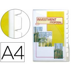 Cajetin de archivo plastico Beautone A4