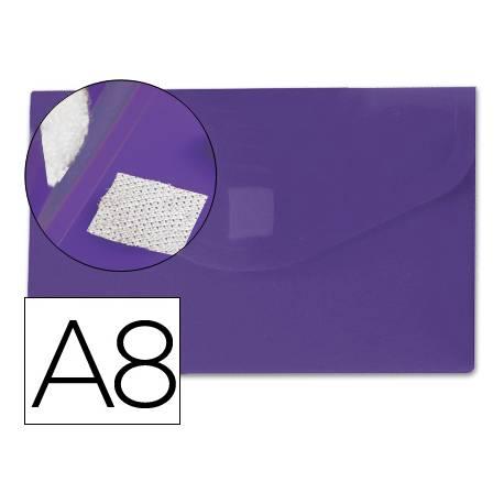 Carpeta sobre Liderpapel velcro violeta