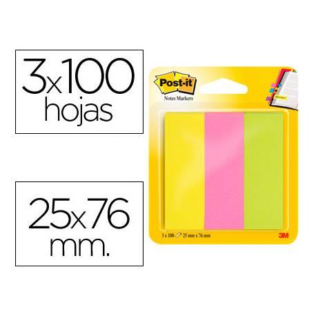 Post-it ® Bloc quita y pon neon mininotas