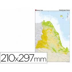 Mapa mudo Cataluña fisico
